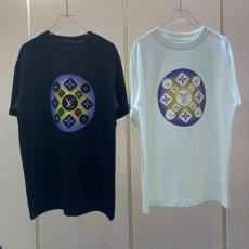 即完売必至追跡付 LOUIS VUITTON クルーネック Tシャツ 2色 綿 ルーズバージョン ルイヴィトン 男女兼用 新入荷 美品本当に届くブランドコピー工場直営国内安全優良サイト