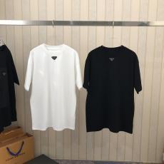 メンズ/レディース Tシャツ プラダ カジュアル 綿 2色 クルーネック PRADA シンプルなデザイン 定番人気 累積売上額TOP1 カップルスーパーコピー 国内優良工場直売サイトline