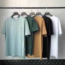 セリーヌ メンズ/レディース カップル 5色 綿 クルーネック Tシャツ 半袖 CELINE カジュアル 累積売上額TOP8 争奪戦 ファッション シンプルで快適ブランドコピー 優良サイト