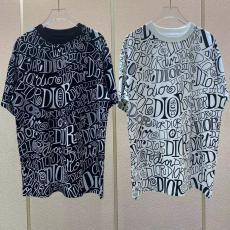 ディオール 男女兼用 カップル Tシャツ 2色 クルーネック カジュアル Dior 2021年春夏新作 関税込スーパーコピー 国内後払い優良サイト