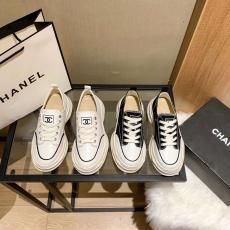 2色 カジュアル 靴 厚い底 キャンバス靴 シャネル レディース 新入荷 CHANEL  素敵な
