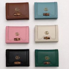 グッチ 最新作人気 GUCCI レディース 6色 短財布 二つ折財布 カードポケット  札入れ  大人気本当に届くブランドコピー工場直営おすすめ店