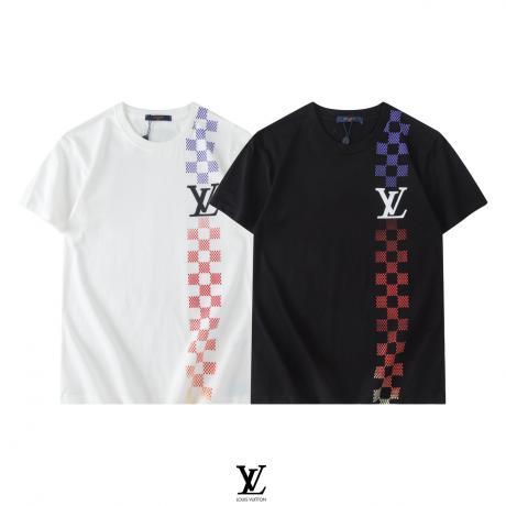 LOUIS VUITTON ルイヴィトン 新作Tシャツ半袖プリント最高品質コピーTシャツ
