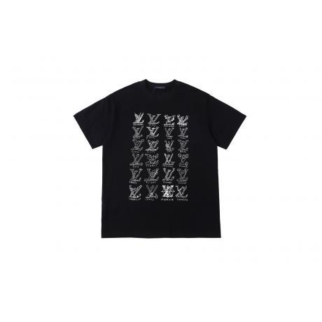 日本未発売!超レア ヴィトン LOUIS VUITTON  字母ロゴ 定番新作Tシャツ綿半袖プリント2色コピー代引きn級品