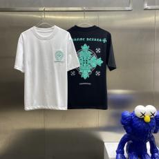クロムハーツ Chrome Hearts メンズレディース春夏字母ロゴ 新作Tシャツ半袖ラウンドネック 3色激安 代引き口コミ