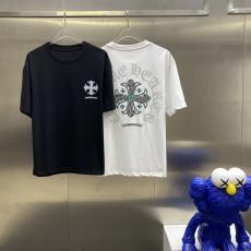 Chrome Hearts クロムハーツ メンズレディース春夏字母ロゴ 新作Tシャツ半袖ラウンドネック 2色ブランドコピー激安販売工場直営専門店