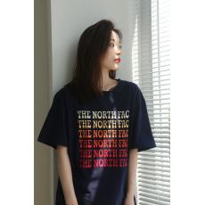 良品 ノースフェイス THE NORTH FACE メンズレディース字母ロゴ 新作百搭 カップルグラデーションTシャツプリント本当に届くブランドコピー国内安全店line