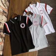 バーバリー Burberry 春夏字母ロゴ 定番ファッション新作通気絶妙な綿折り襟刺繍3色レプリカ販売Tシャツ