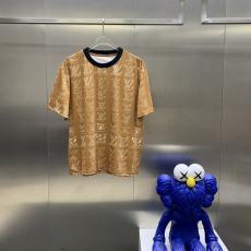 ヴィトン LOUIS VUITTON  メンズレディース春夏カジュアル字母ロゴ 新作Tシャツ綿半袖2色本当に届くスーパーコピー 口コミおすすめ店